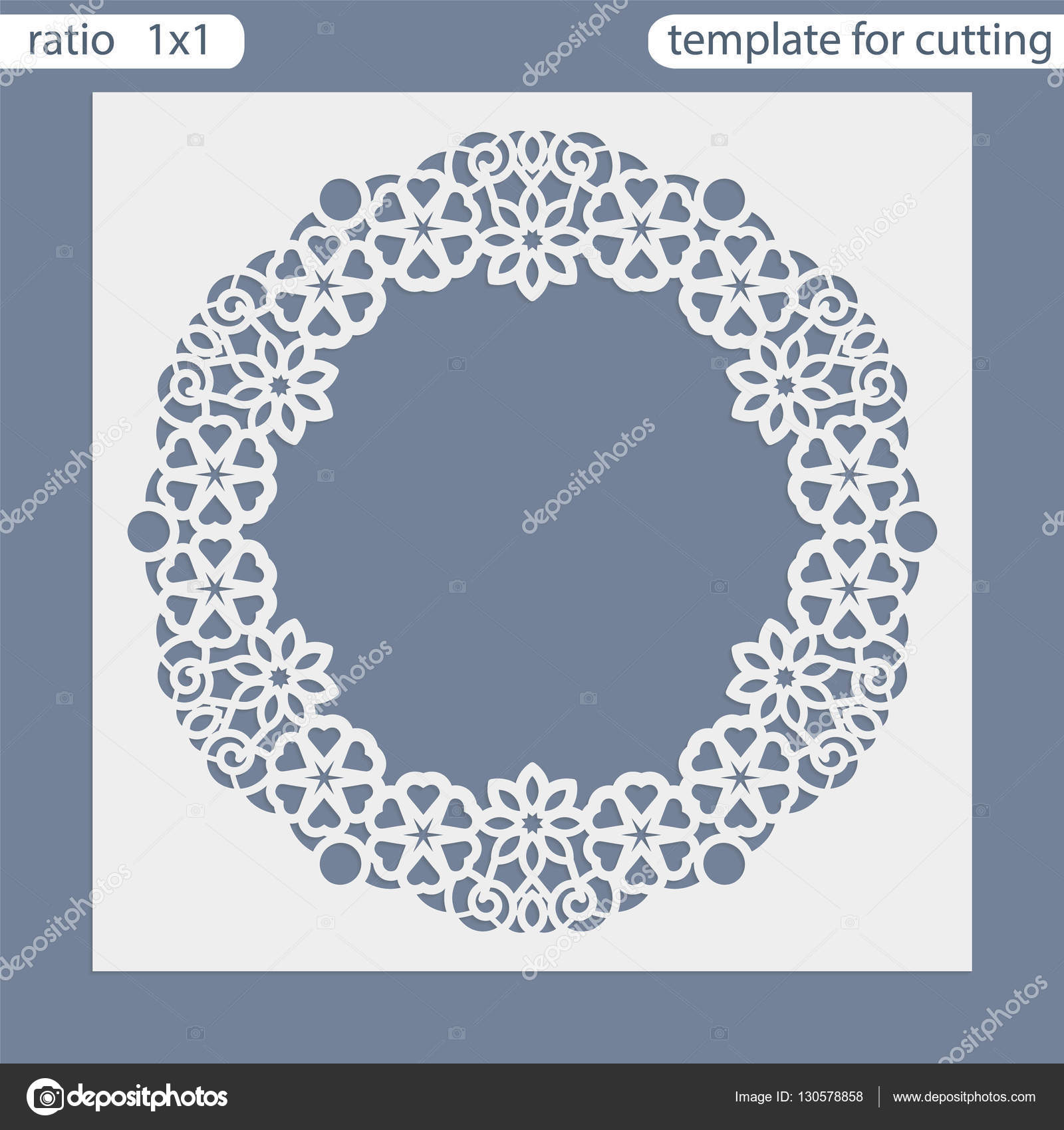 Laser Cut Wedding Invitation Card Template Cut Out The