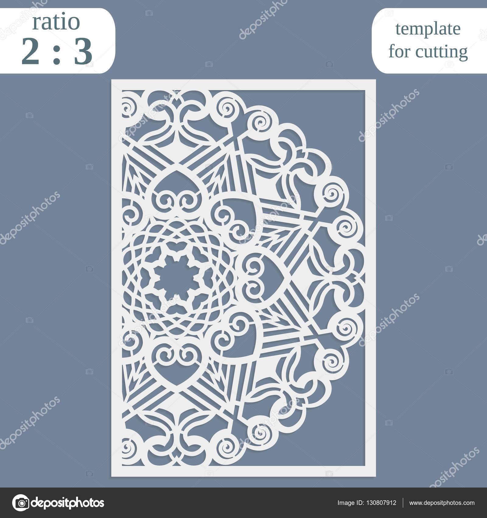 laser cut wedding card template paper openwork greeting card template for cutting lace