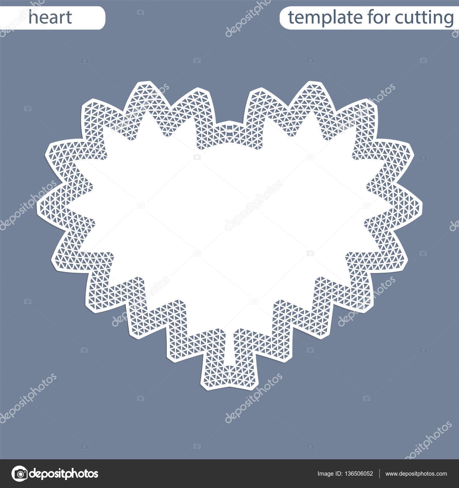 Grusskarte Mit Durchbrochenen Rand Papier Deckchen Unter Den Kuchen