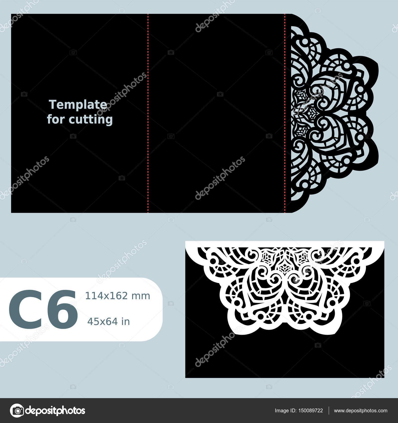 C6 Papier durchbrochenen Grusskarte, Hochzeitseinladung, Vorlage ...