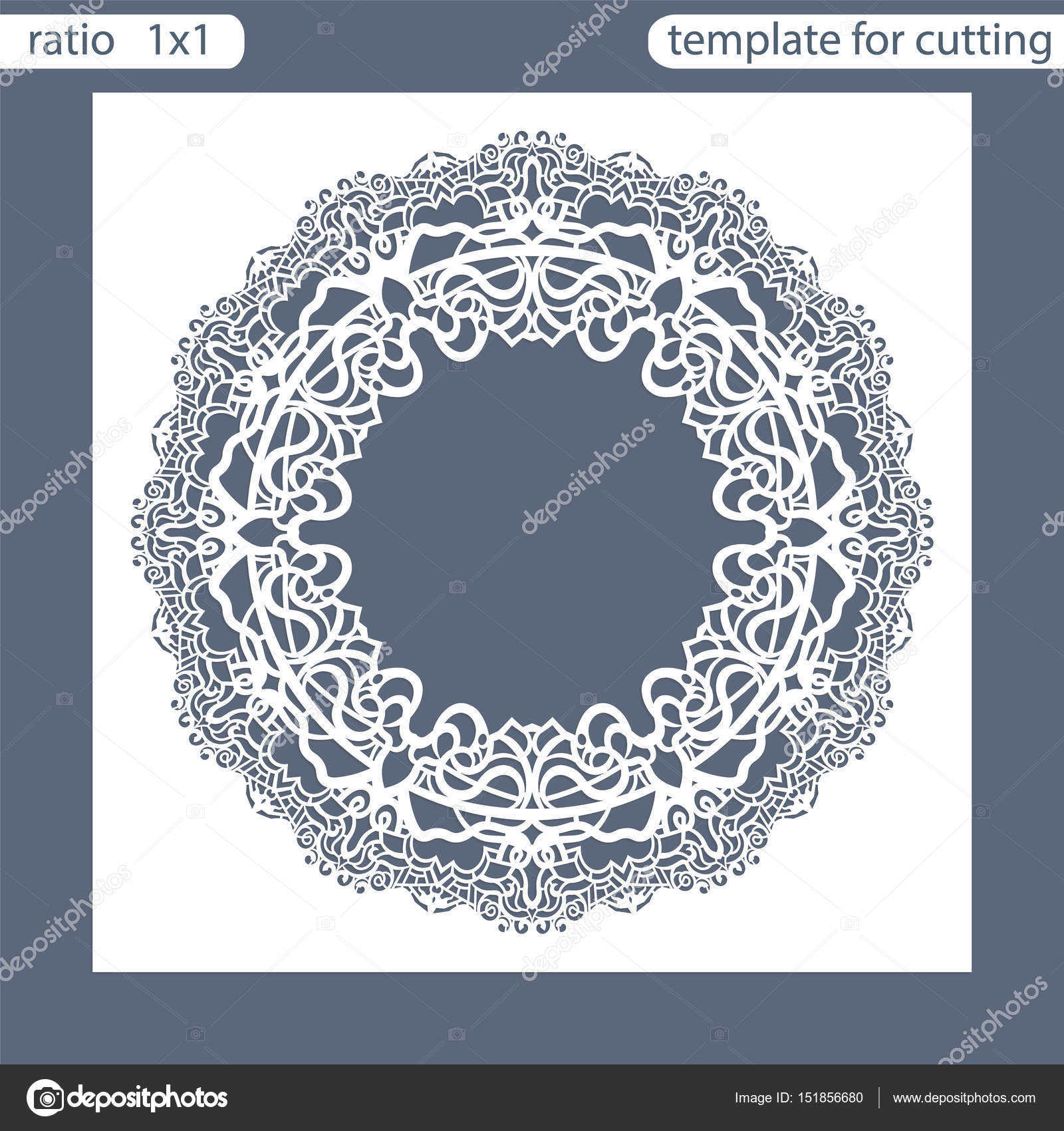 Laser Cut Wedding Invitation Card Template Out The Paper With Lace Pattern: Cut Out Wedding Invitation Card Templates At Websimilar.org