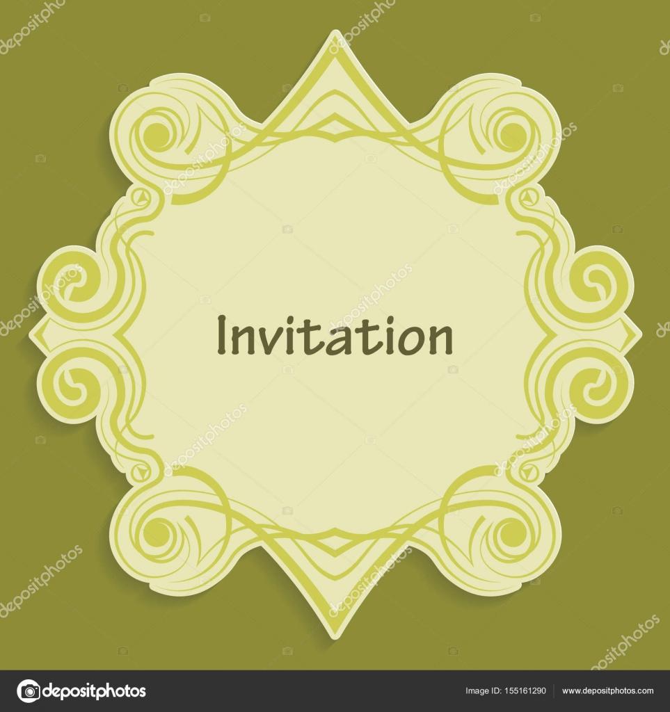 Plantilla corte de tarjetas de papel con el patrón de oro de ...