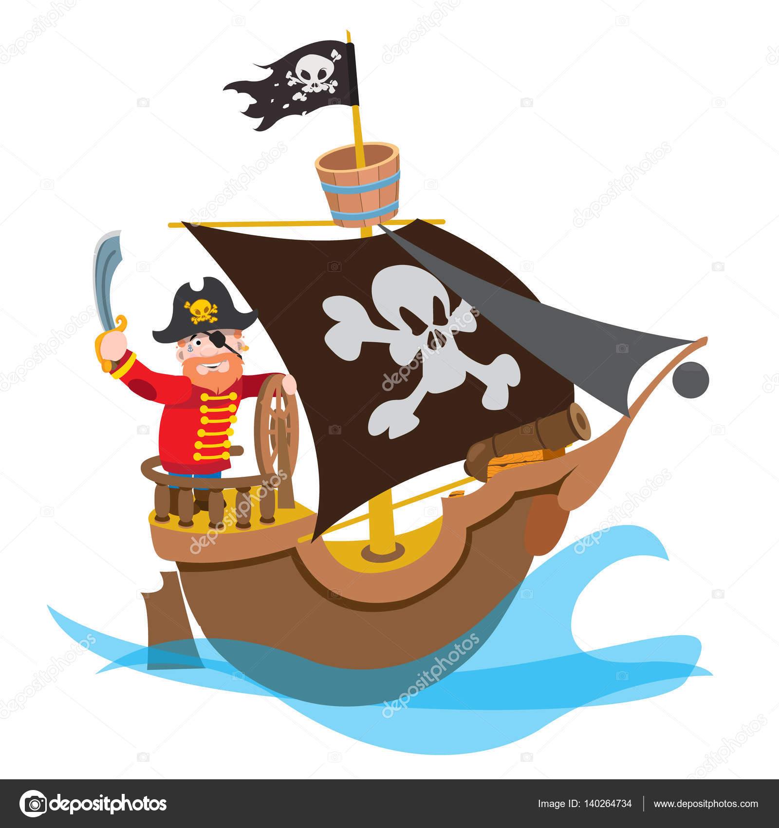Imágenes Barcos Caricatura Pirata De La Caricatura En Barco