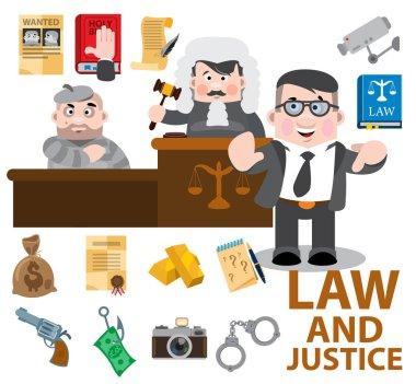 Judge, defendant, lawyer