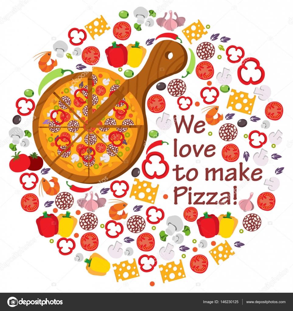 Amiamo fare la pizza — Vettoriali Stock © filkusto  146230125 7fe4f47c030