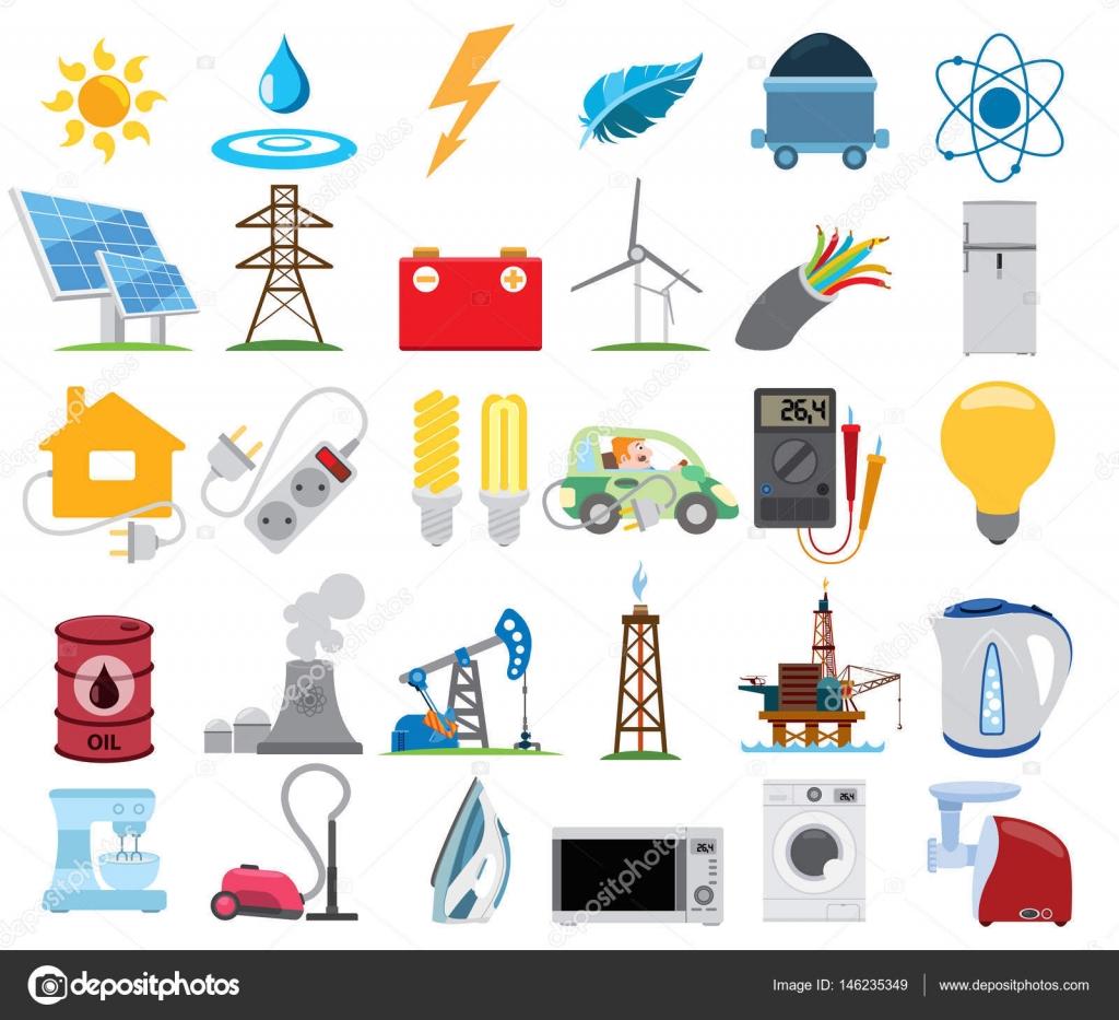 Infografía de energética, electricidad — Vector de stock © filkusto ...