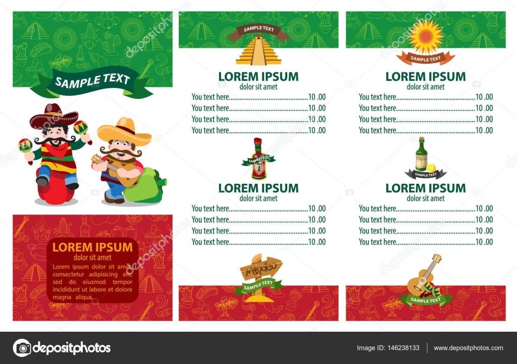 colorful menu template stock vector filkusto 146238133