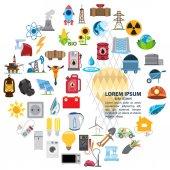 Infographics of energetics, electricity