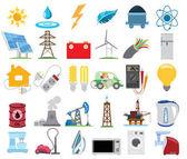 Infographics dellenergetica, energia elettrica