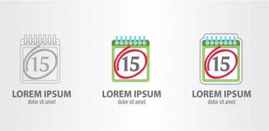 Calendar logos set