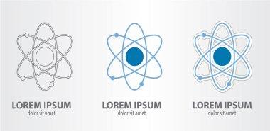 Atom logos set