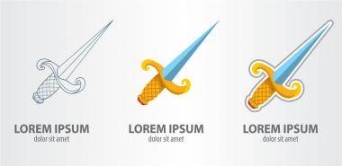 Sword logos set