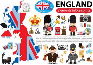 England elements infographics