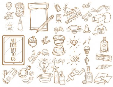 Tattoo studio icons