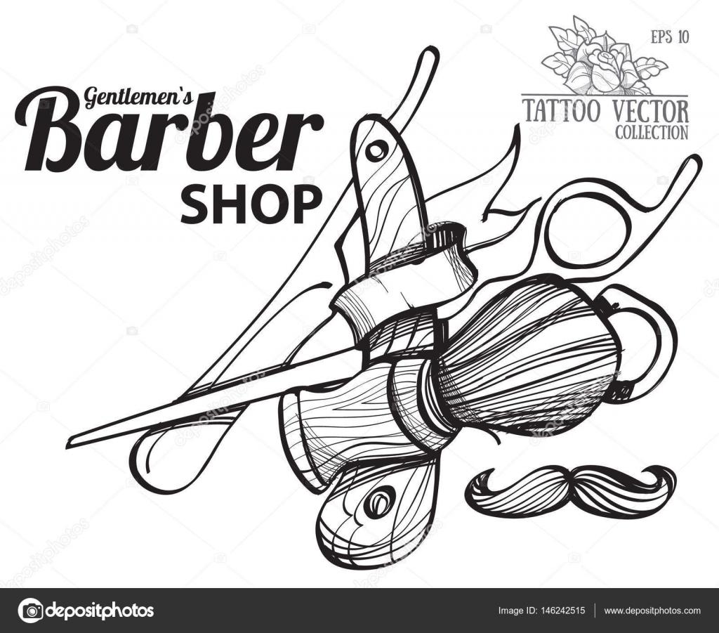 Logo For Barber Shop Stock Vector