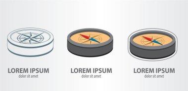 Compass logos set