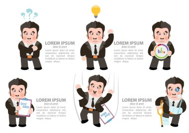 Cartoon businessman characters
