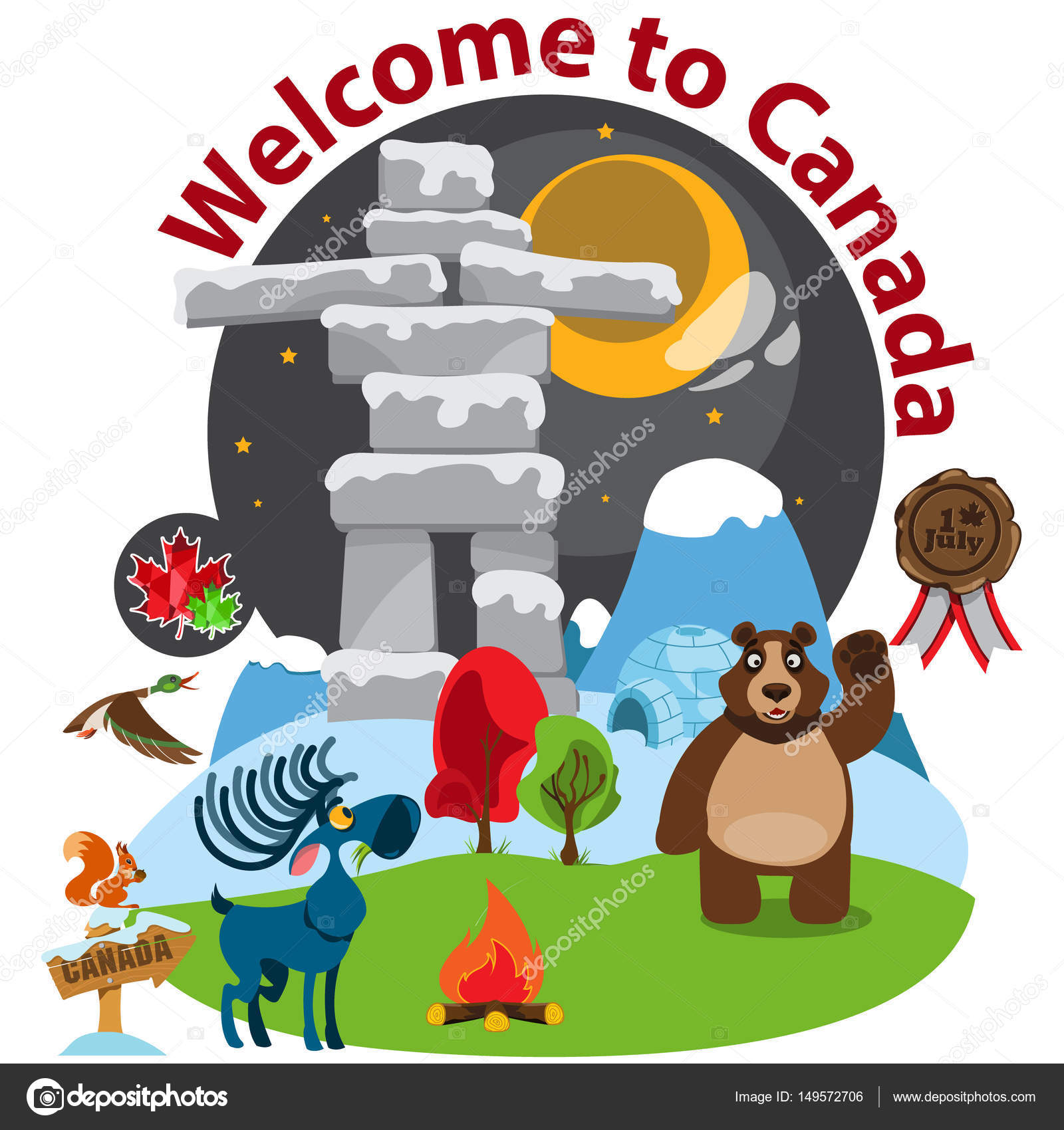 Welcome banner with symbols of canada stock vector filkusto welcome banner with symbols of canada stock vector biocorpaavc Gallery