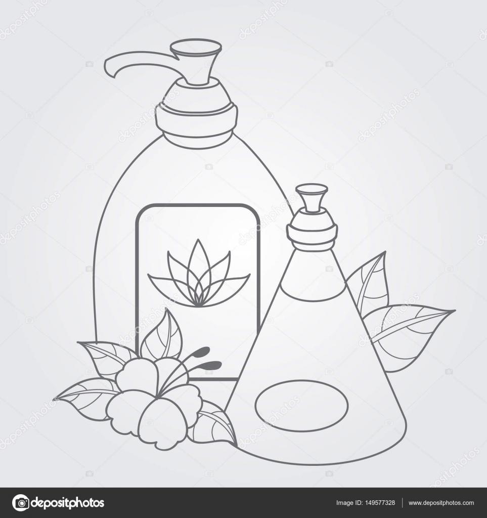 Dibujos Productos De Aseo Personal Jabón Líquido Productos De