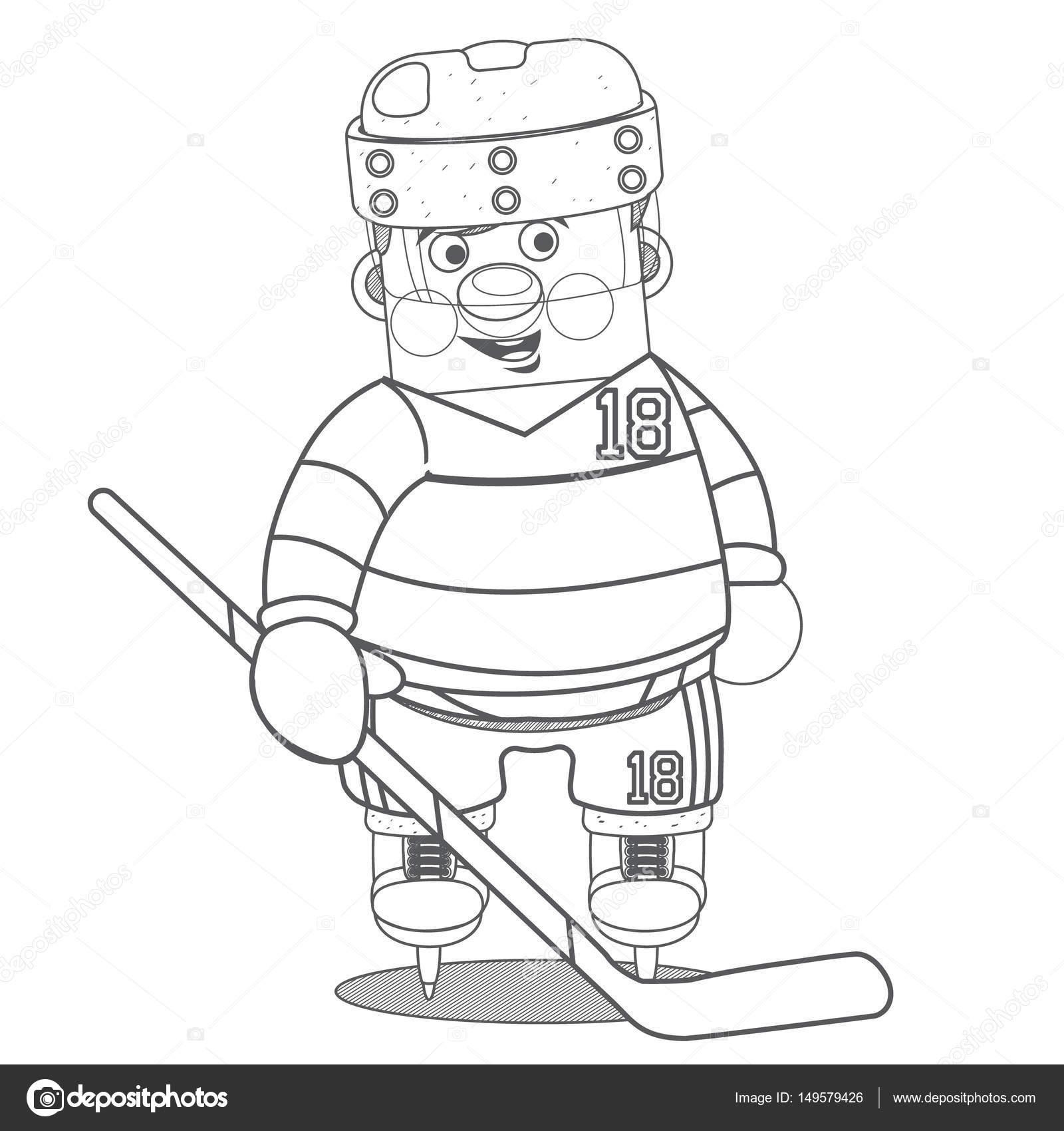 jugador de hockey sobre hielo — Archivo Imágenes Vectoriales ...