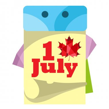 Canada Day July 1 icon.