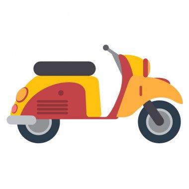 Scooter color illustration.