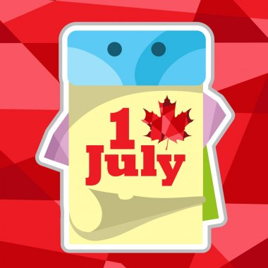 Canada Day July 1 icon