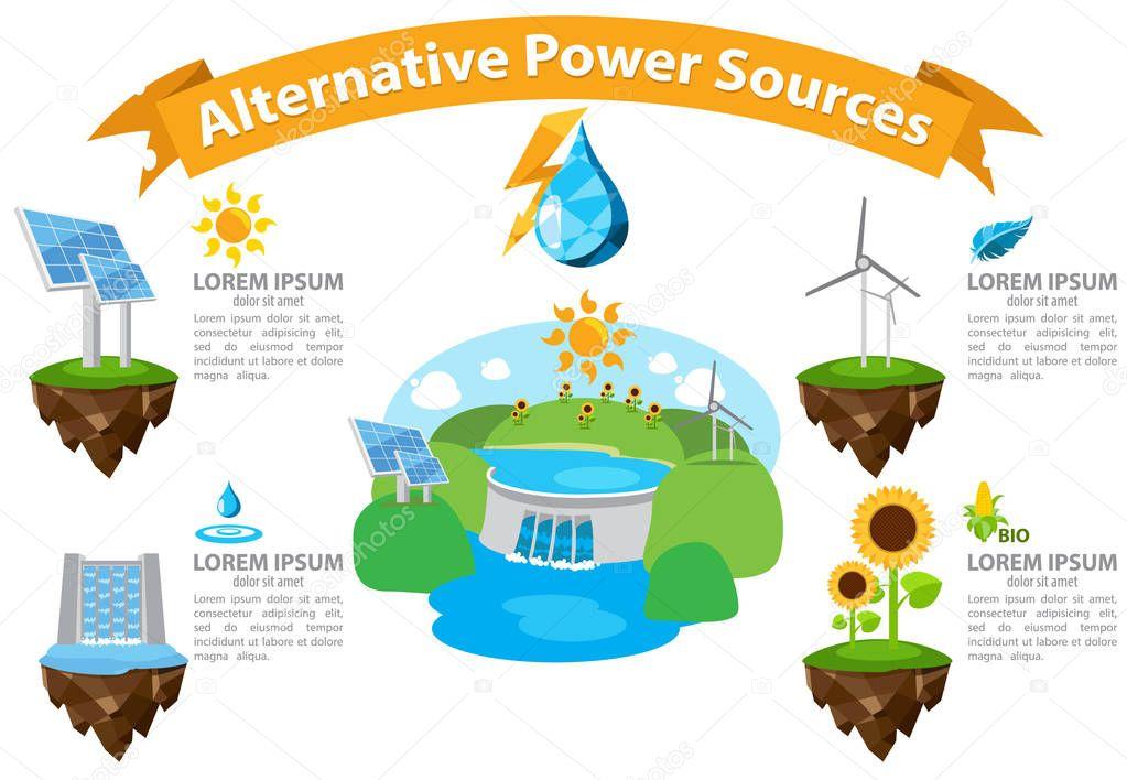 Alternative energy infographics.