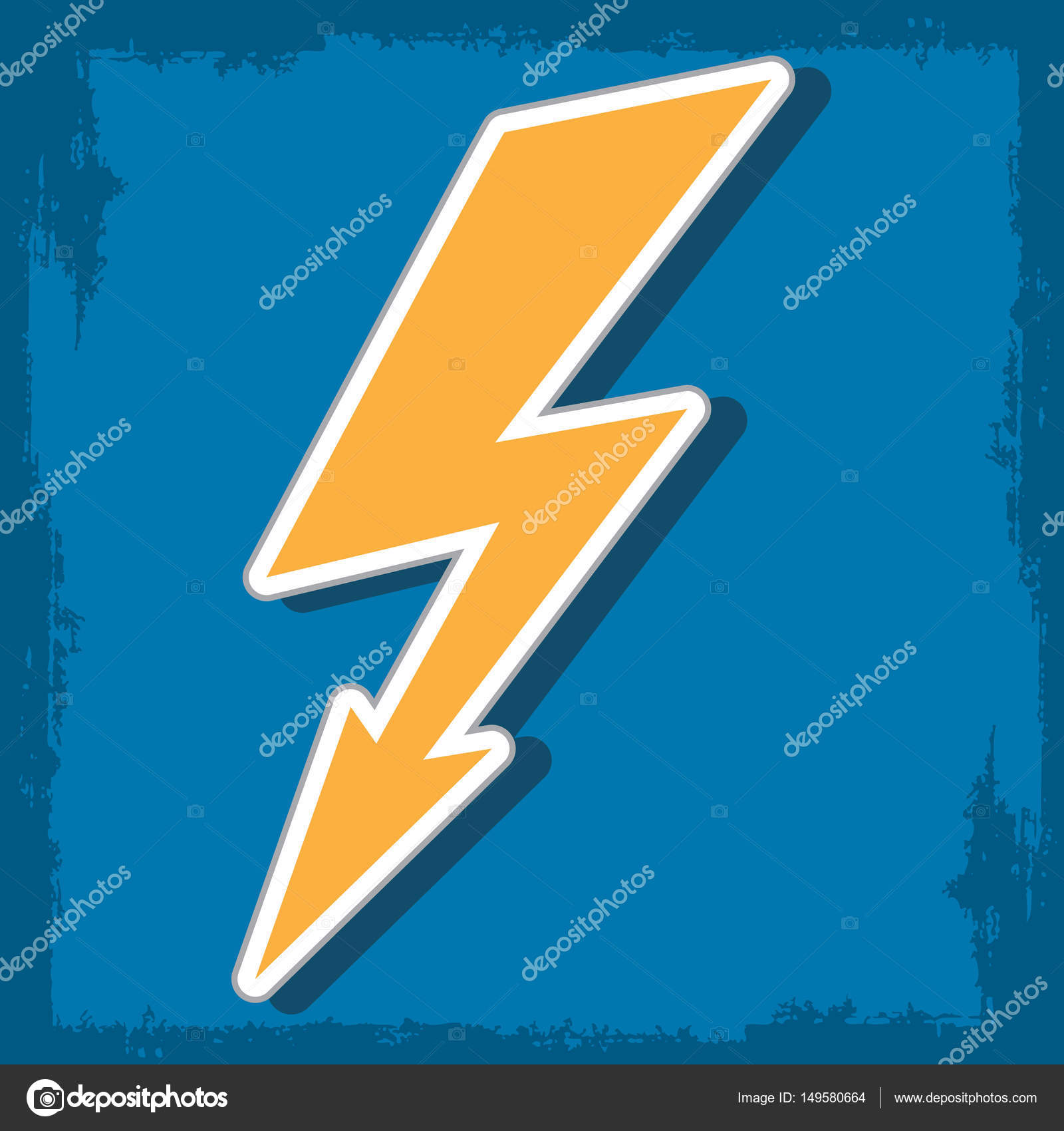 Lightning The Electric Charge Of The Logo Stock Vector