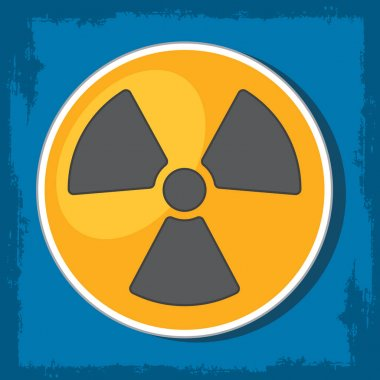 radioactive waste logo.