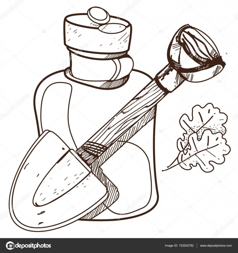 картинки раскраски кувшин лопата и стекла кувшин