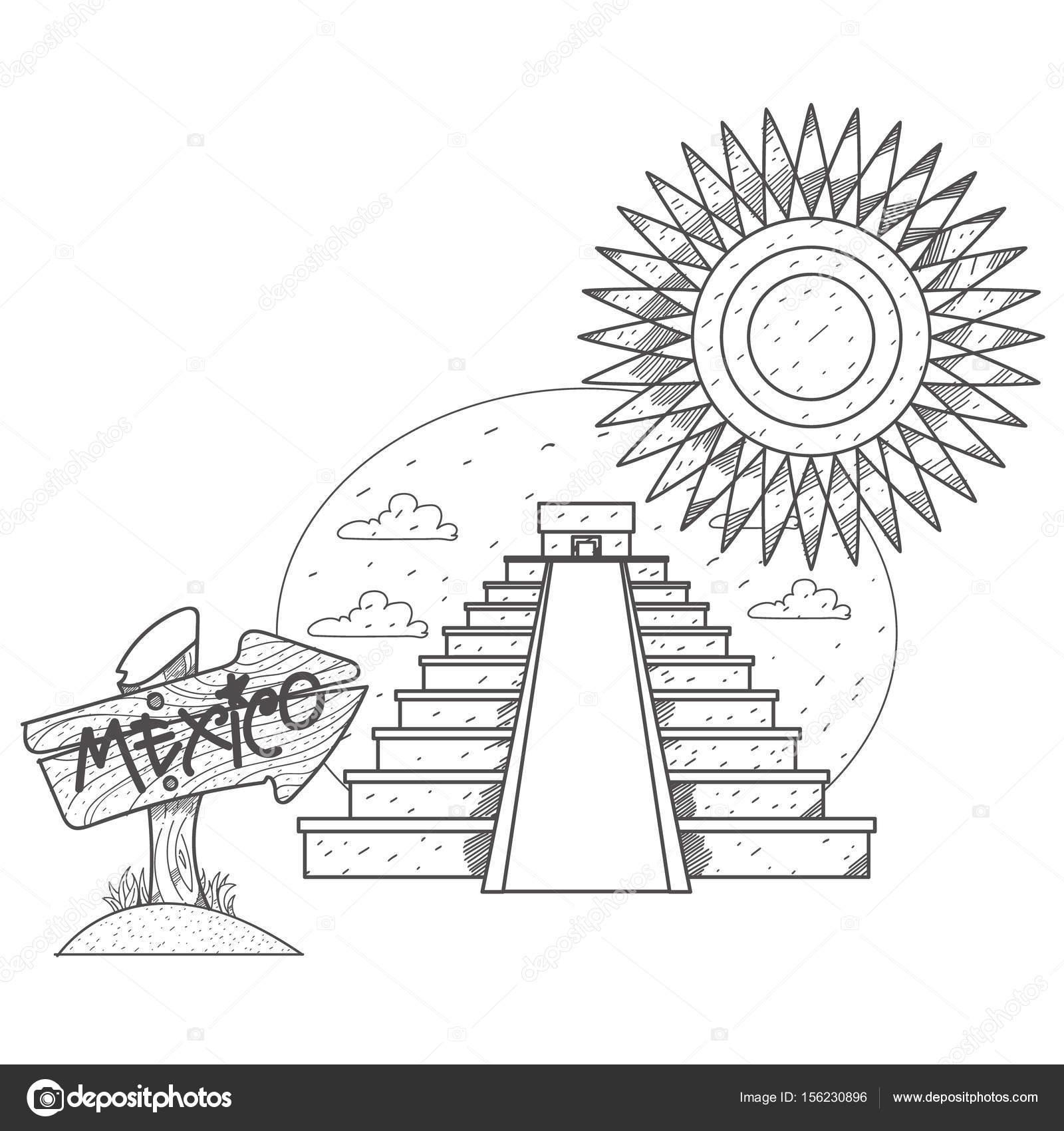 Pirámide del sol y pirámide de la luna — Archivo Imágenes ...