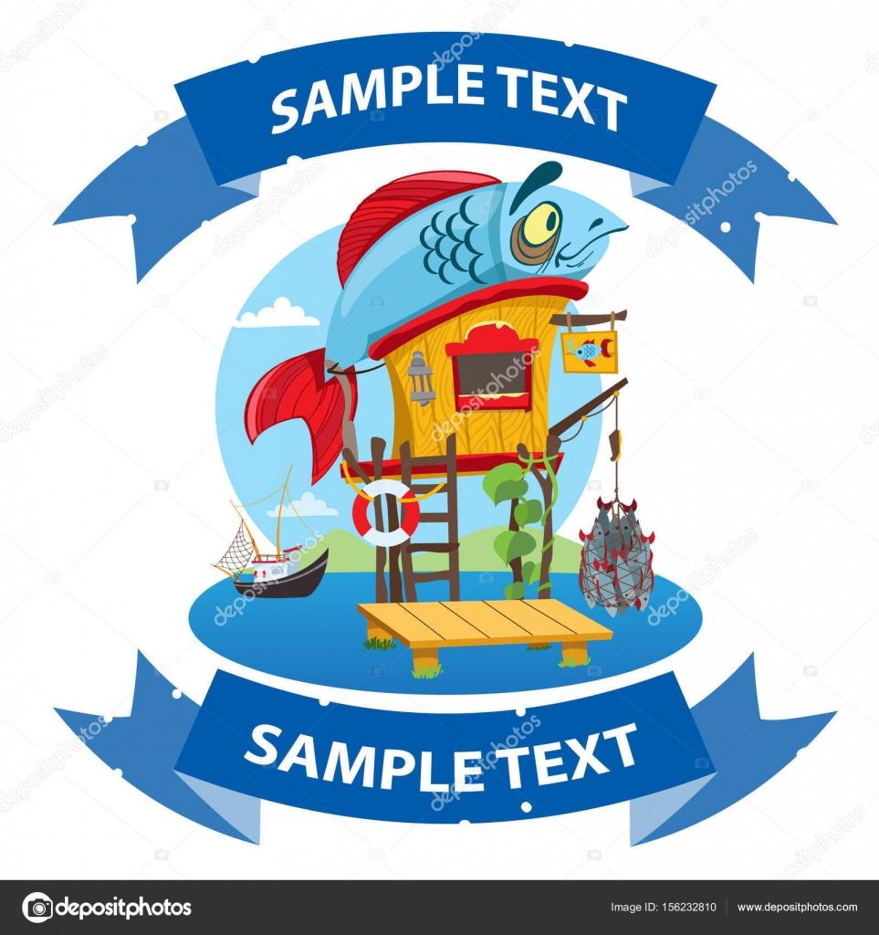 Kresleny Dum Rybare Stock Vektor C Filkusto 156232810