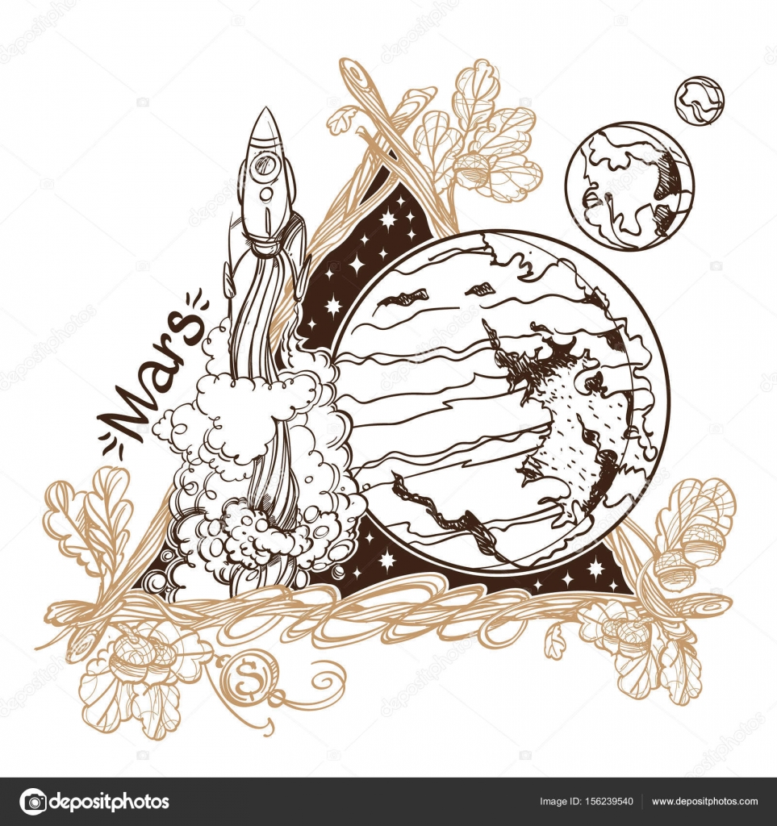 Marte. Planetas y estrellas del Sistema Solar — Archivo Imágenes ...