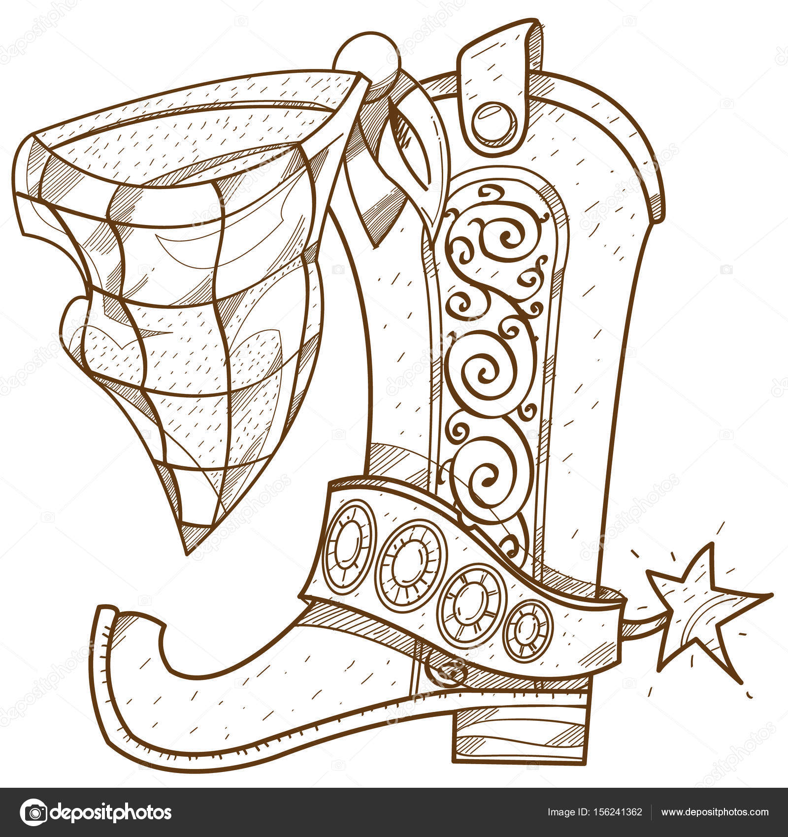 Bota campera insignia — Vector de stock © filkusto #156241362