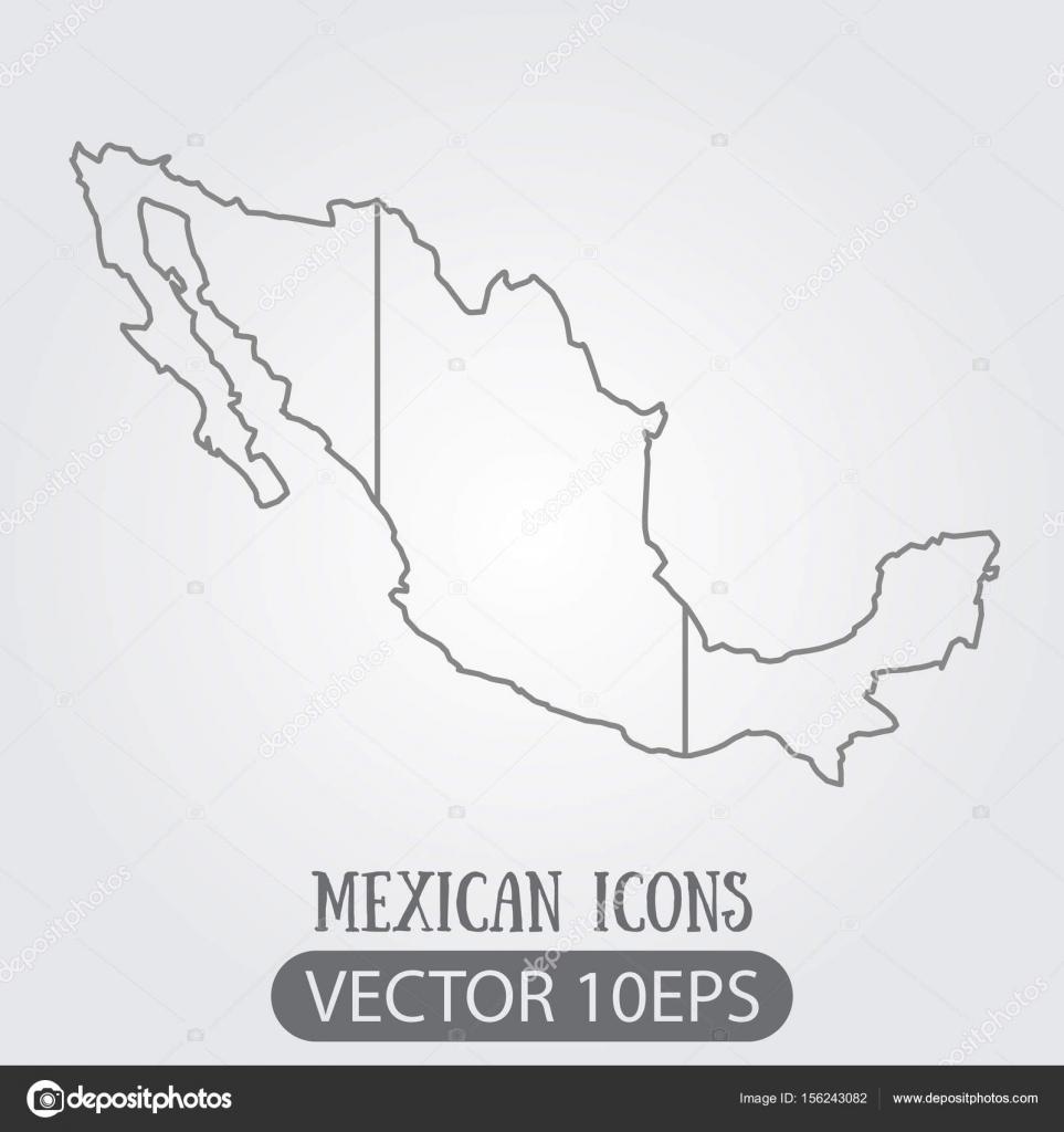 Mexiko Karte Umriss.Kontur Karten Von Mexiko Isoliert Umriss Zeichnen