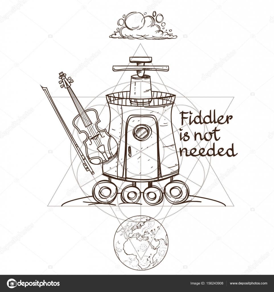 Bosquejo de la imaginaria nave espacial — Archivo Imágenes ...