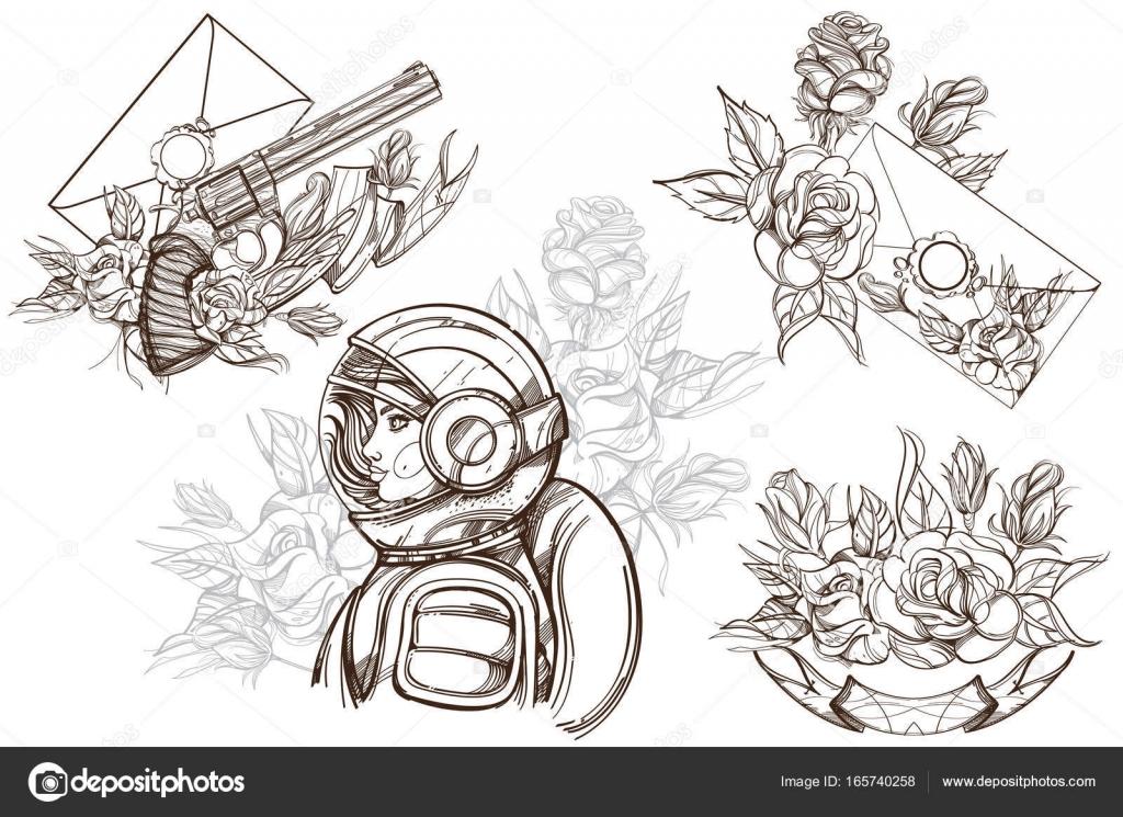Mujer astronauta. Belleza cósmica — Vector de stock © filkusto ...