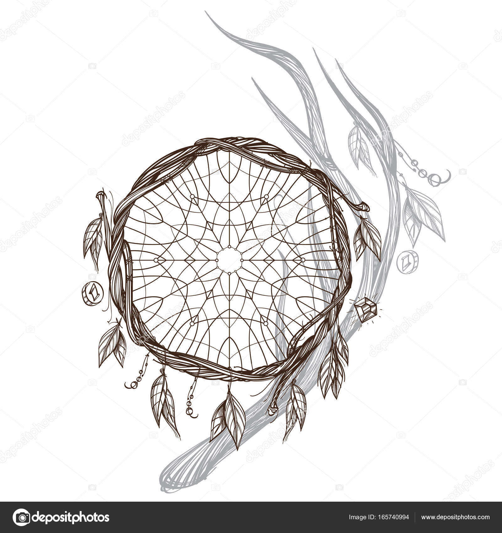 Native American Indians Talisman Stock Vector Filkusto 165740994