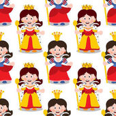 pattern with cartoon queens.