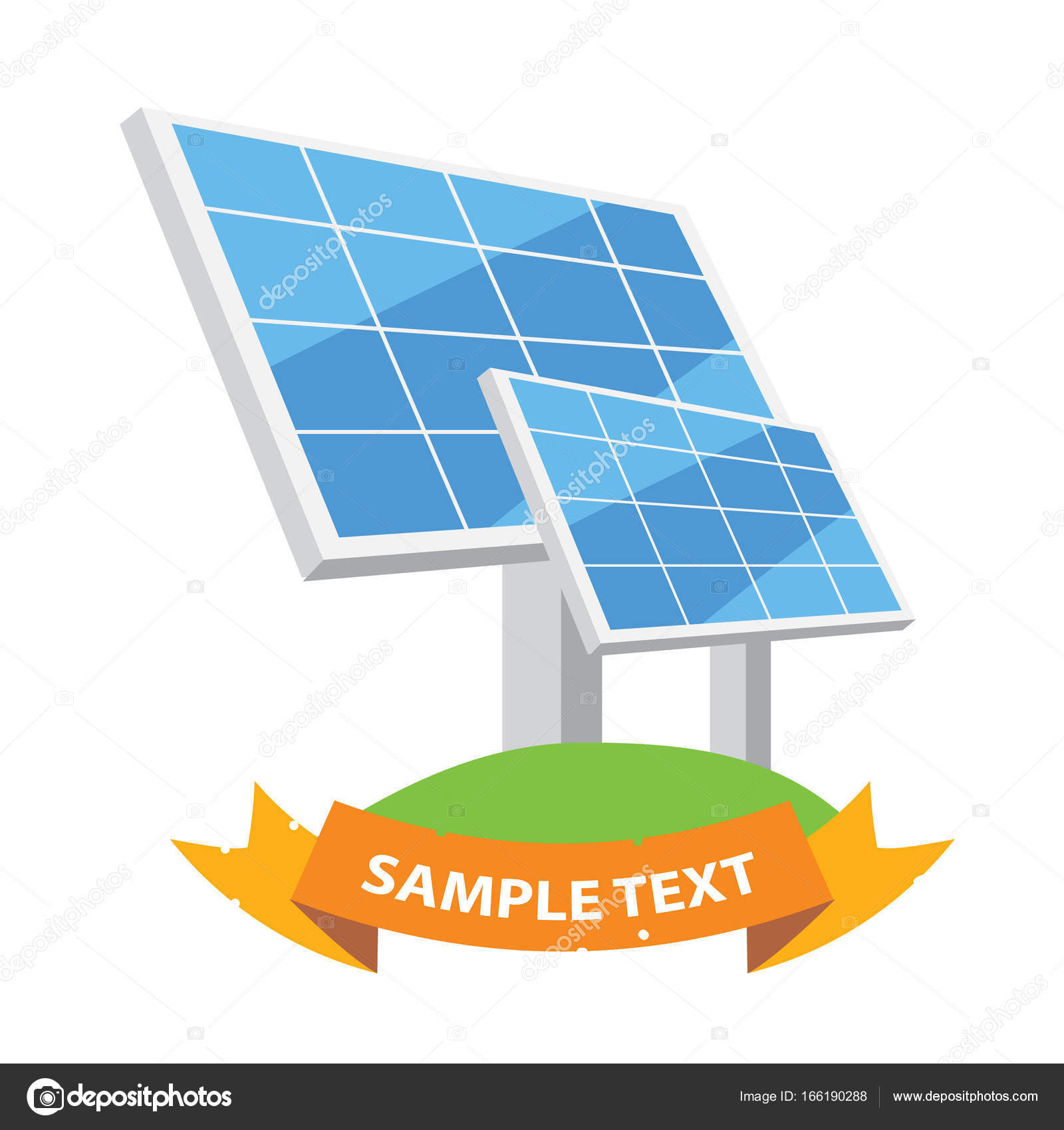 Poster template with solar panels — Stock Vector © filkusto #166190288