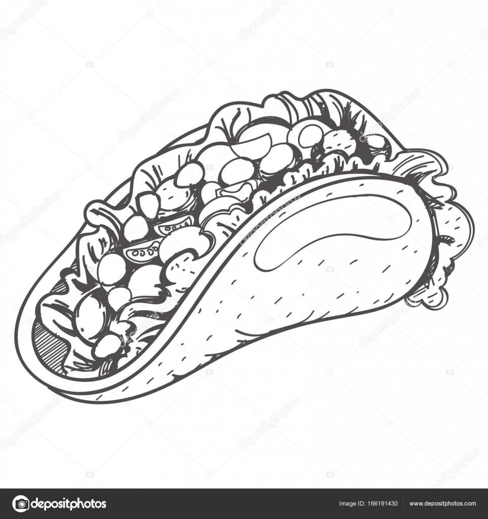 Logo de Taco mexicano tradicional — Archivo Imágenes Vectoriales ...