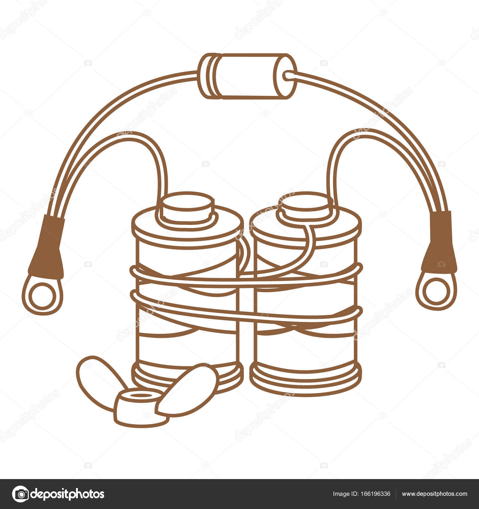 Coils with copper wire — Stock Vector © filkusto #166196336