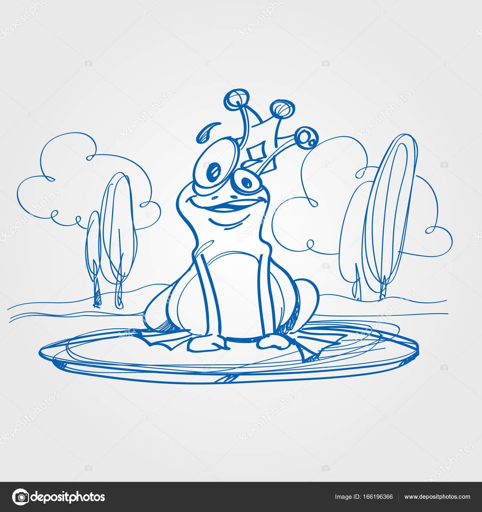 Dibujo de Príncipe Rana — Vector de stock © filkusto #166196366