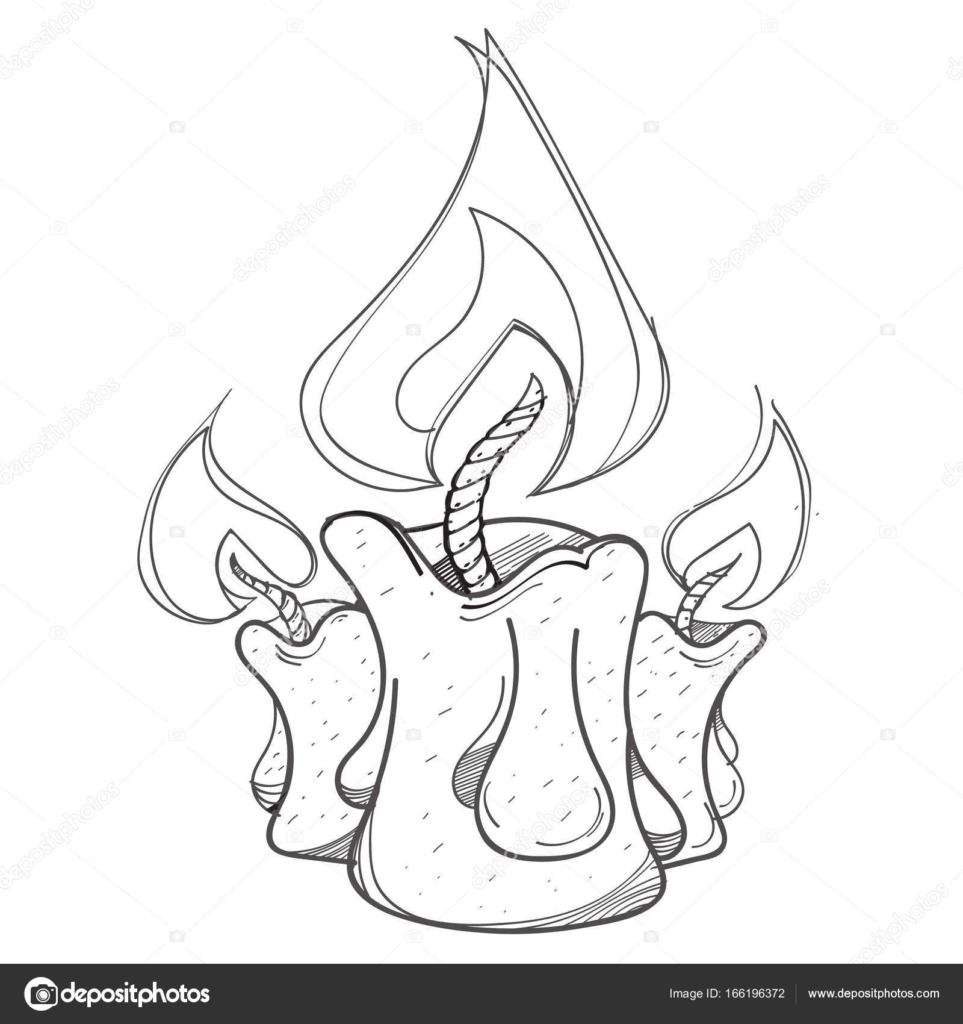 Quema de velas de logo — Vector de stock © filkusto #166196372