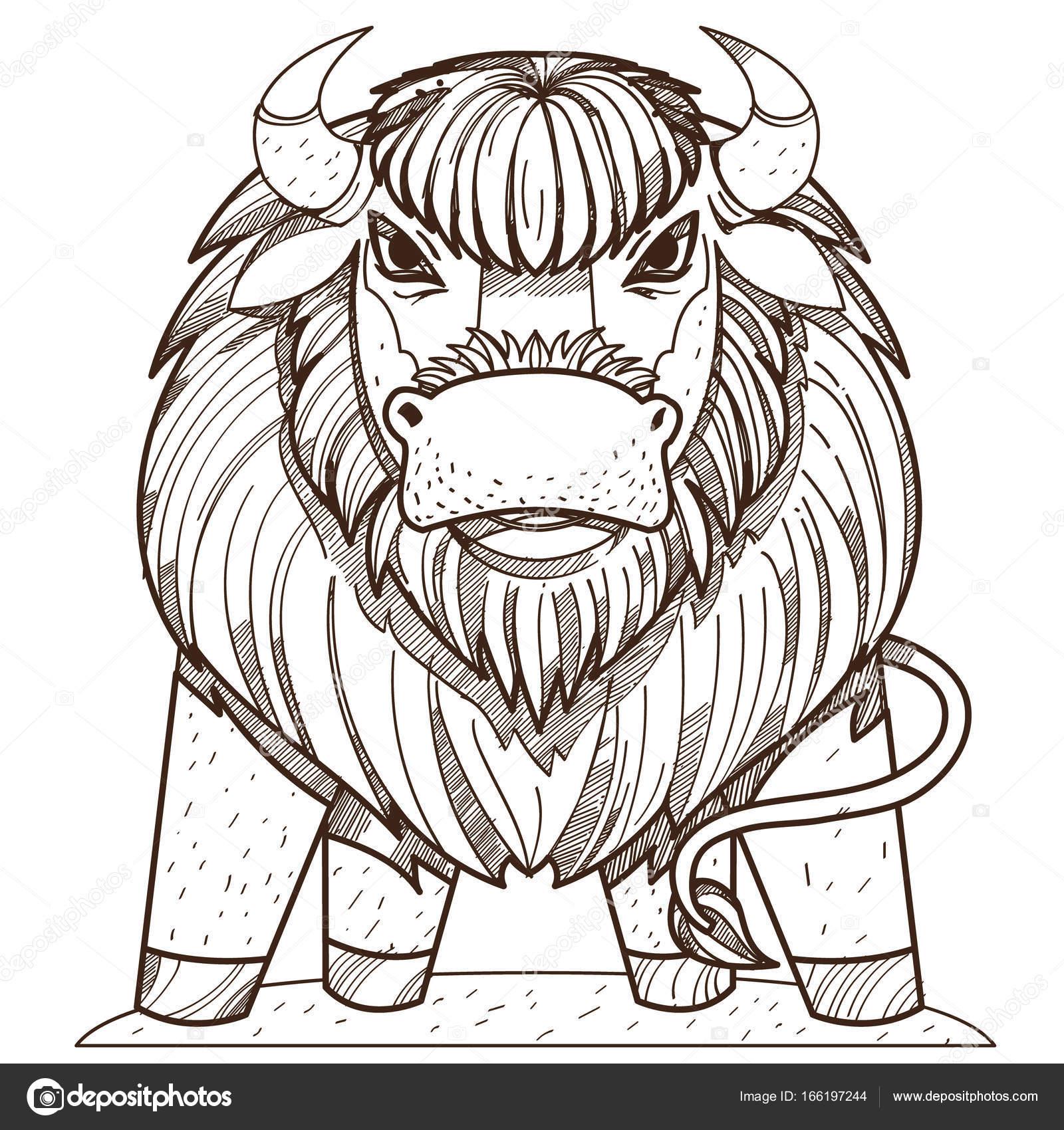 Icono de búfalo salvaje — Archivo Imágenes Vectoriales © filkusto ...