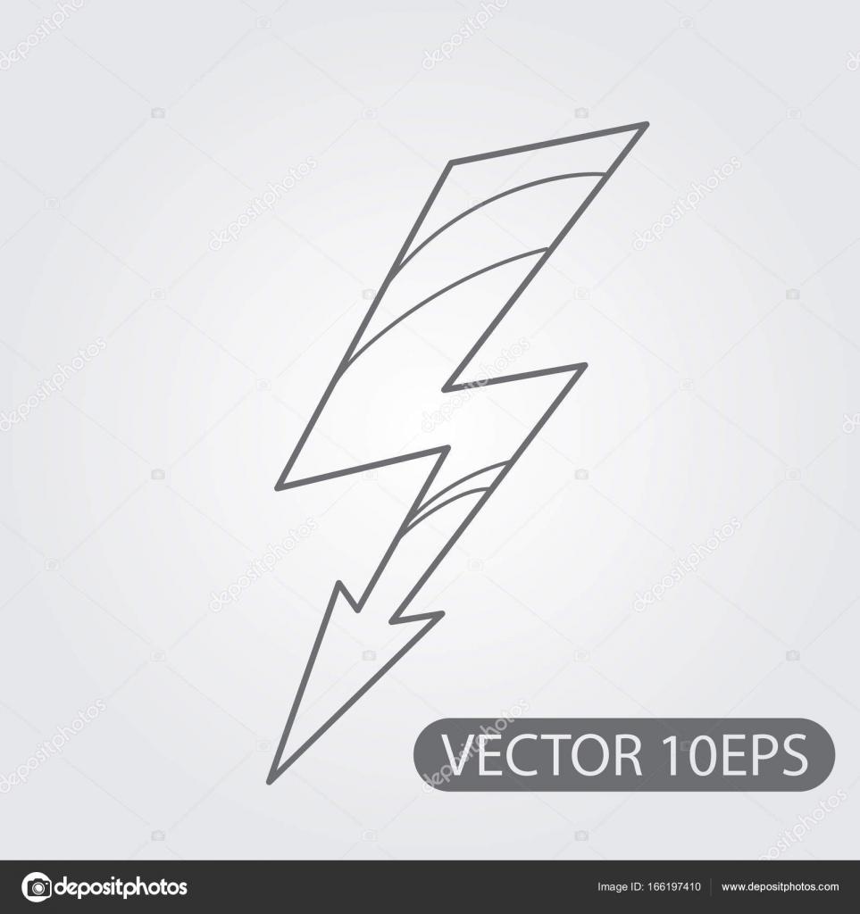Hochspannungs-Zeichen-Symbol — Stockvektor © filkusto #166197410