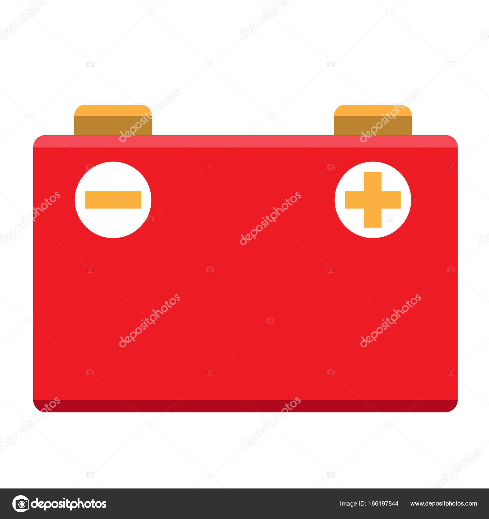 Car Battery Icon Stock Vector C Filkusto 166197844