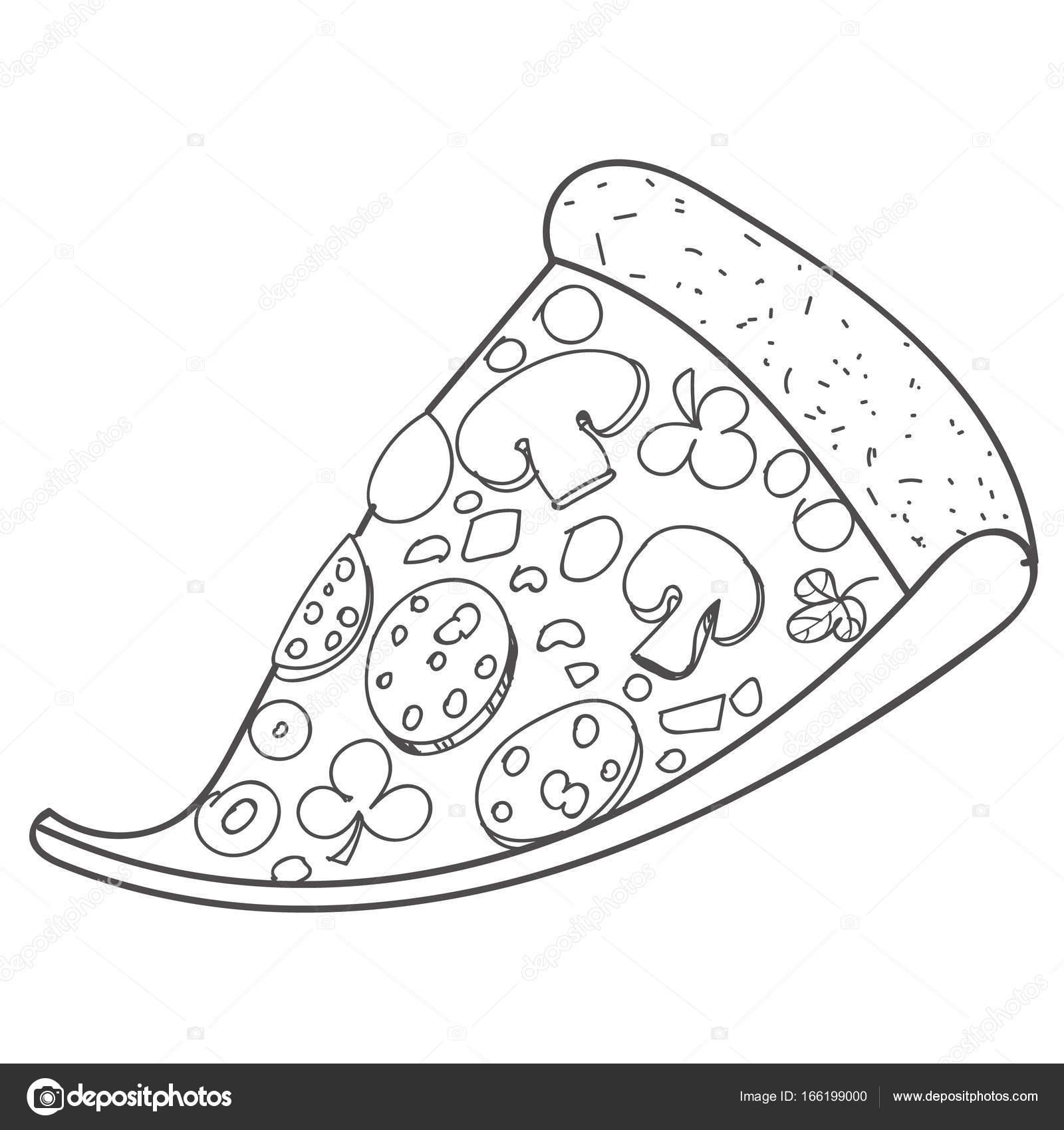 fatia de logotipo de pizza vetor de stock filkusto 166199000