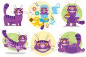 Fialové cats Cheshire